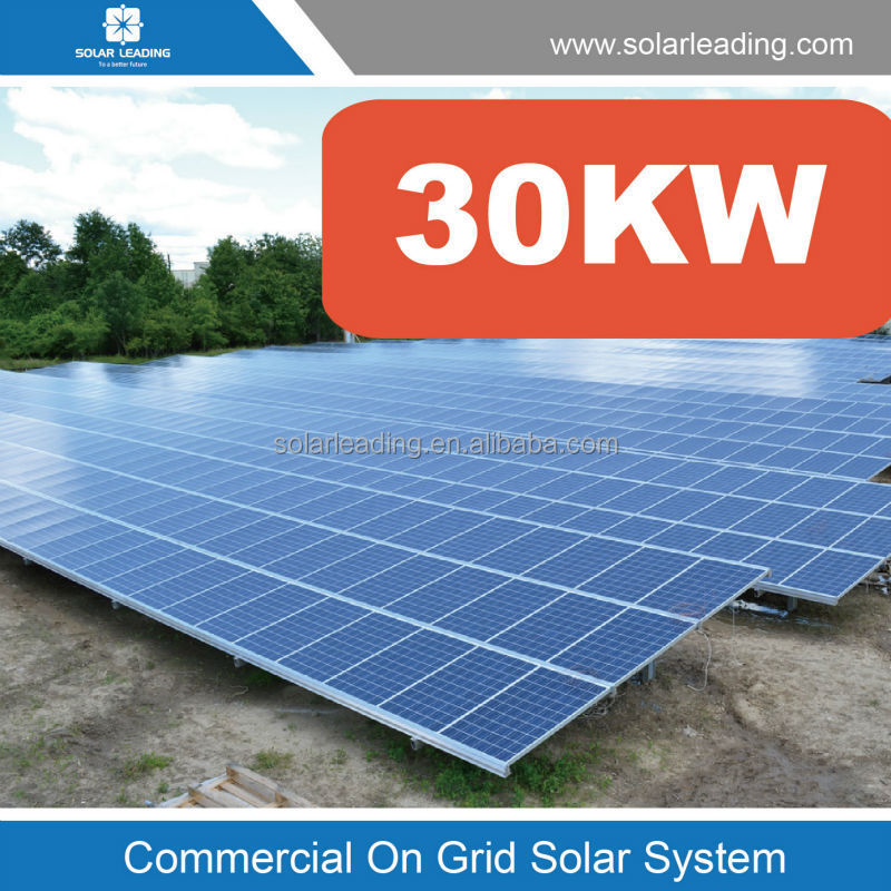 Grid tie 3 phase solar system 30KW grid tie 3 phase solar system 30kw commercial solar energy system