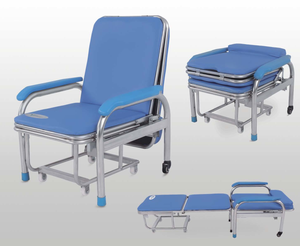 Seating Chairs CE Approved Cheap Portable D02 Waiting Chair Cum Bed