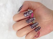 Minx nail sticker styling tools Sexy Leopard Designs 3d Nail Art Gel Sticker Manicure Wraps Decals Diy Decorations Foils Sticker