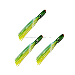 SKL015-4 sea fishing lure octopus skirt lure resin head trolling lure