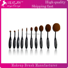 MYBASY 2016 New arrival Oval Cream tooth brush style Power Makeup Fiber Brush Puff cosmetic tooth brush