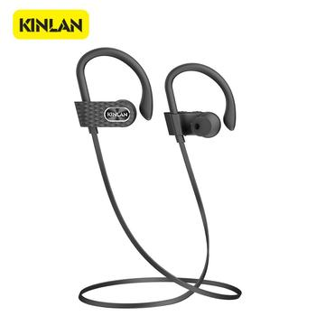 KINLAN Bluetooth Handsfree Earphone Wireless in-ear Neckband headset headphones Sport noise-cancelling Super Bass earphones