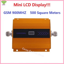 New LCD Display! Mini GSM 900Mhz Mobile Phone Signal Booster , GSM Signal Repeater , Cell Phone Signal Amplifier + Power Adapter