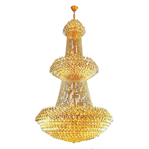 luxury large golden hanging crystal chandelier