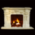 Home Decorative Beige Travertine Marble Fireplace Mantel