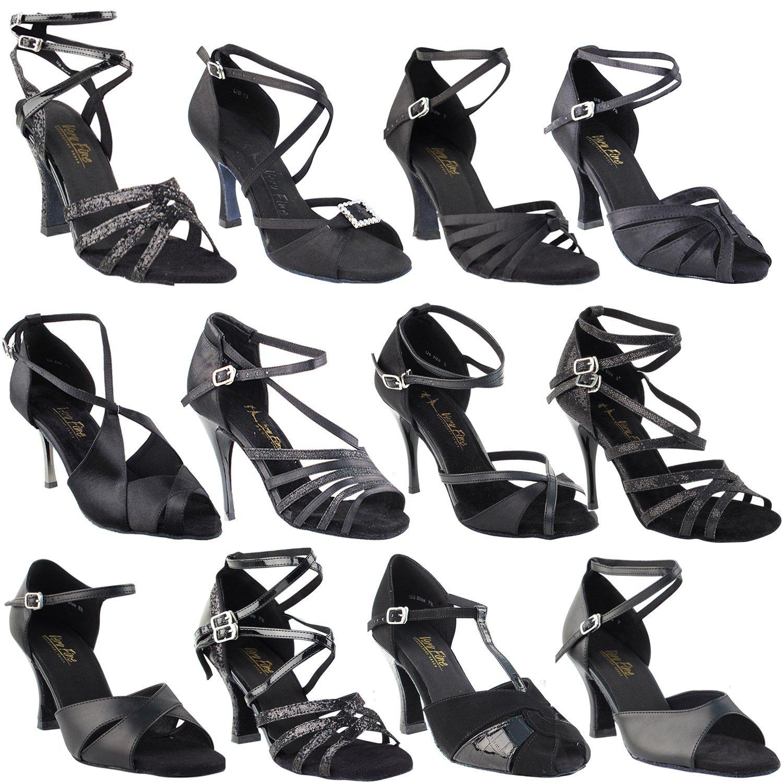 45dfeddbec8d2 Get Quotations · Gold Pigeon Shoes Party Party Black Dance Shoes:S9261:Black  Leather & Black Patent