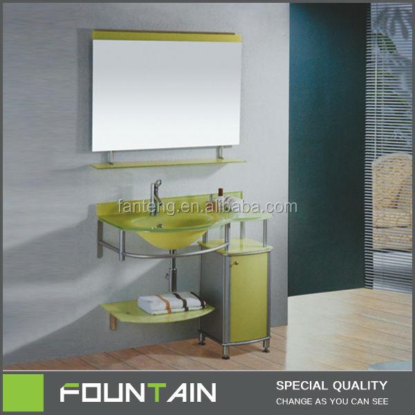 Hangzhou bassin en verre meubles de salle de bains en for Mobilier salle de repos