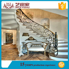 iron stair railing/used wrought iron stair railing/indoor iron stairs fence for sale