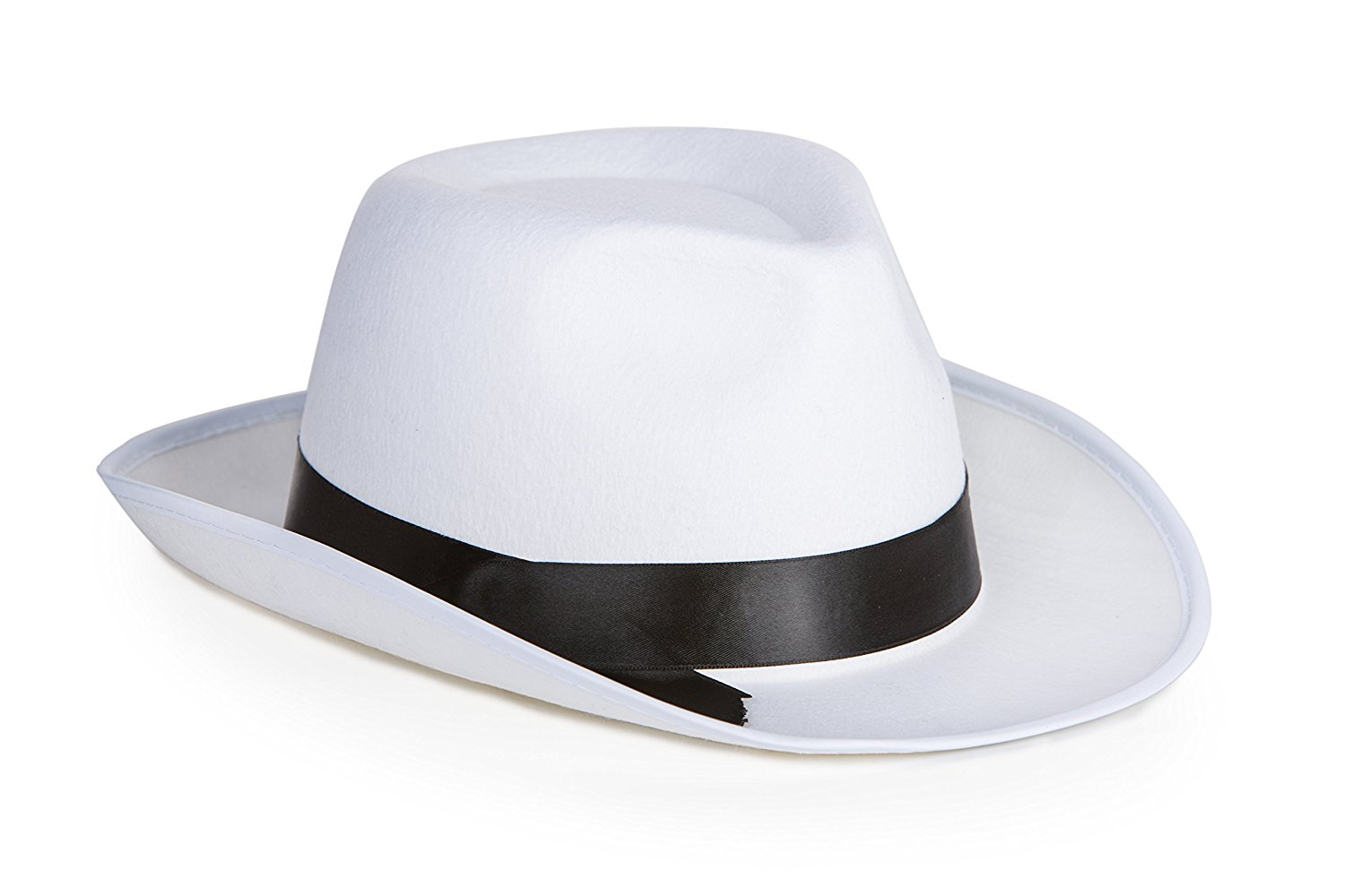 Buy Kangaroo White Felt Gangster Hat - Mobster Fedora Hat in Cheap ... 60a47bfc189