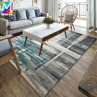 Abstract Design Stock Machine Woven Polypropylene Modern Area Rugs For Living Room Carpet