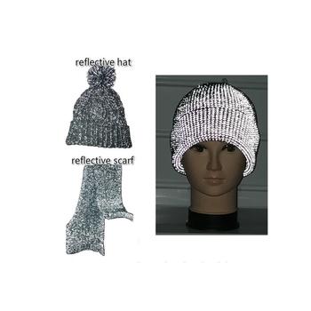 92645da9f Hot Selling Good Quality Reflective Wholesale Knit Hats / High Light  Reflective Hat Caps With Reflex Hair Ball - Buy Light Reflective Knit  Hats,High ...