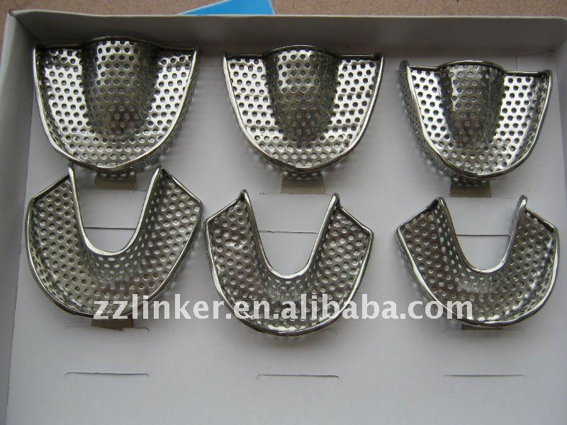 LK-E105A Stainless Steel Dental Impression Trays
