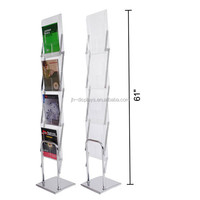 Trade Show Display Acrylic Brochure Holder Foldable A4 Literature Rack