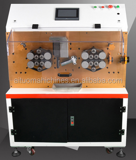 Auto computer electric power cable wire stripper machine