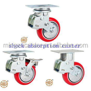 Spring Loaded Caster,Height Adjust Caster With Pu Wheels - Buy