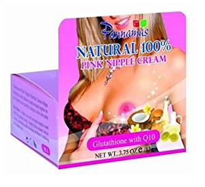 (2)NATURAL 100% PINK NIPPLE HERBAL CREAM WITH GLUTATHIONE Q10 –PANNAMAS BRAND