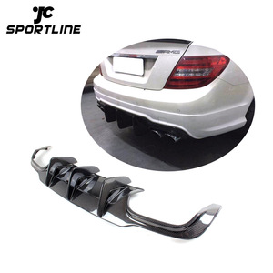 Carbon Fiber W204 C63 Rear Bumper Diffuser for Mercedes-Benz C-Class W204 C63 AMG C300 Sport Sedan 2012 - 2014