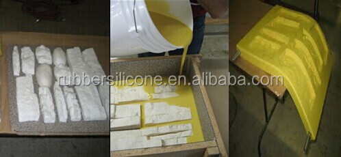 concrete stamping two part liquid polyurethane rubber