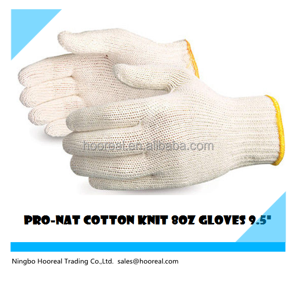 PRO -NAT WHITE POLY COTTON STRING KNIT 8OZ MED-LARGE SEAMLESS WORK GLOVES