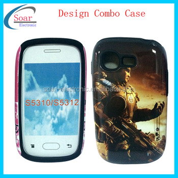 for samsung galaxy s5310 s5312 wholesale men's design combo case