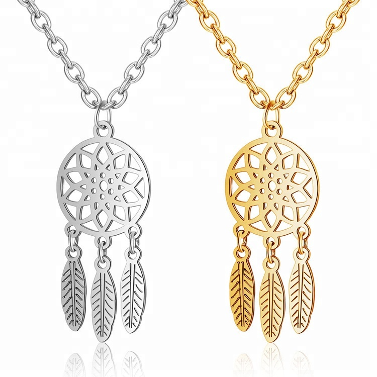 Alibaba China Supplier gold Color necklace dreamcatcher pendant necklace фото