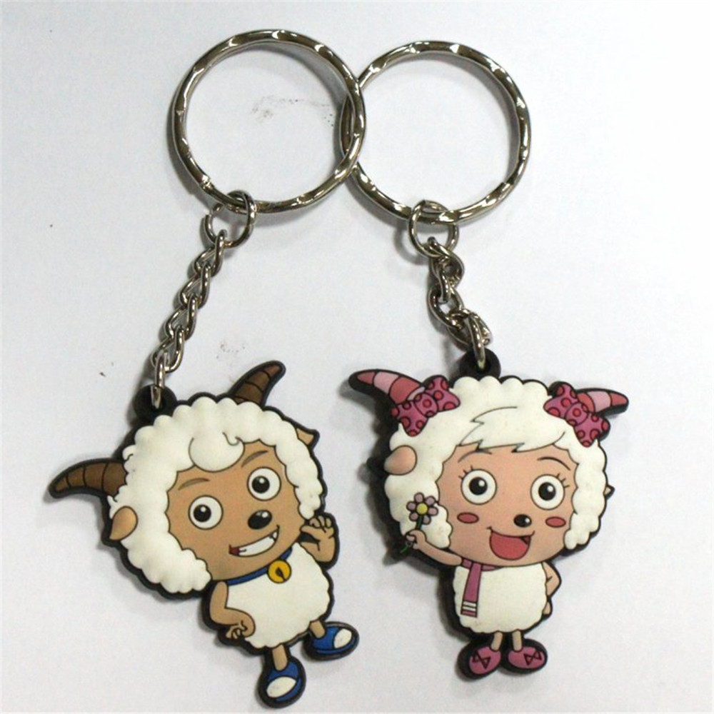 3d keychain rubber key ring promotion PVC cartoon Keyring