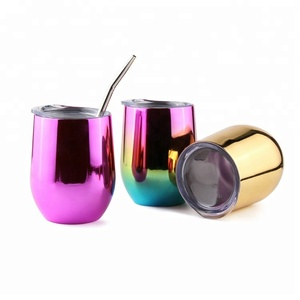 Double Wall 18/8 Stainless Steel Egg Wine Vacuum Mug