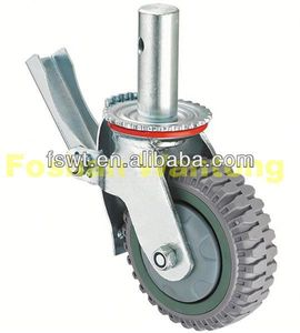 Heavy Duty Scaffolding PU/PVC level adjustable caster(for machinery, industrial, hardware)