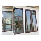Horizontal Window American Modern Home Design Thermal Break Double Glazed Aluminium Frame French Window Casement Window