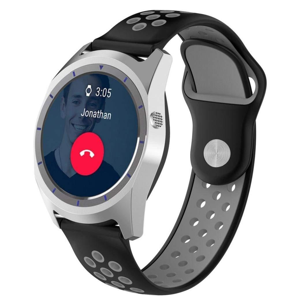 Kanzd Replacement Soft Silicagel WatchBand Strap For ZTE Quartz Smartwatch (F)