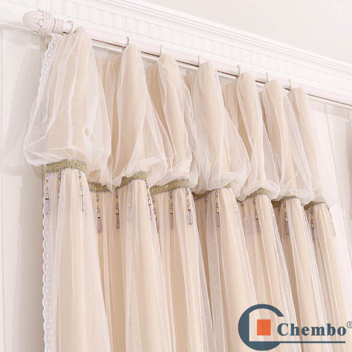 Double Swag Curtain With Valance Decorate The House With