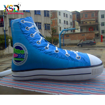 8ab364223 lifelike big inflatable casual shoes / huge inflatable blue shoes replica  for sales advertising