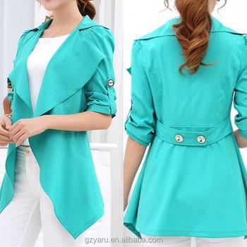 Women ladies fashion spring summer chiffon coats chiffon long outer a560c2a69