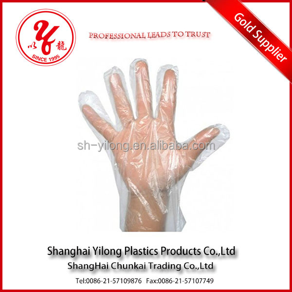 plastic recyclable disposable PE Glove