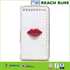 diamante flip leather case with pearls