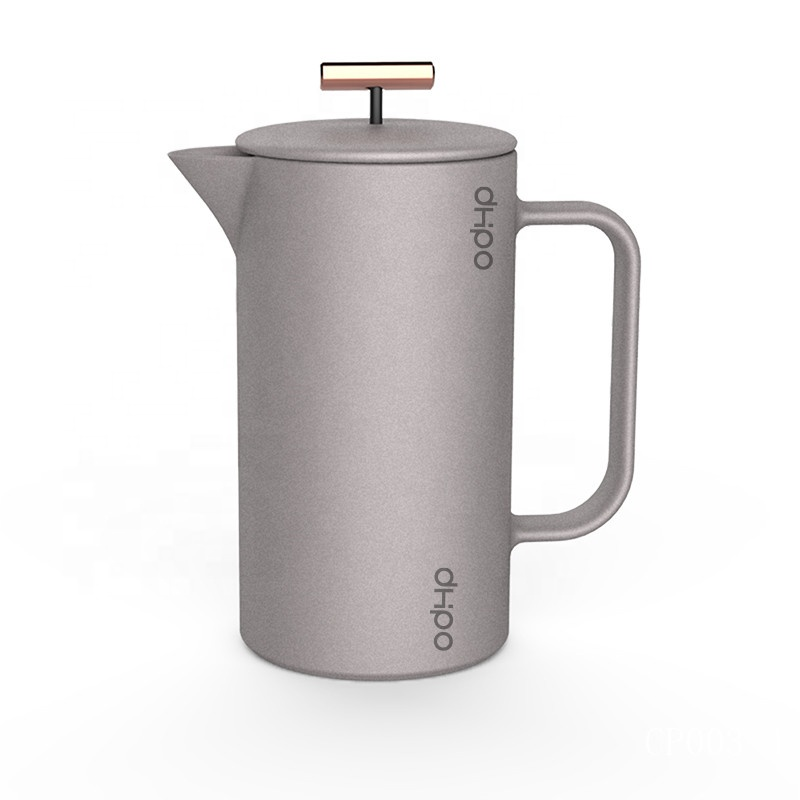 800 Ml Baru Hak Cipta Desain Warna Matte Logo Kustom French Press Kopi Filter