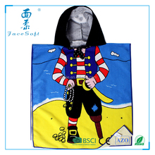 Kids Cartoon Bath Towel Baby Boys Girls Hooded Beach Towel Children Hooded Cloak Swimming bath Towel