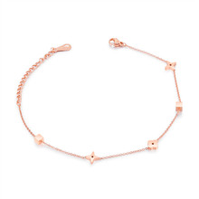 rose gold plating damascus steel jewelry charm anklet chain