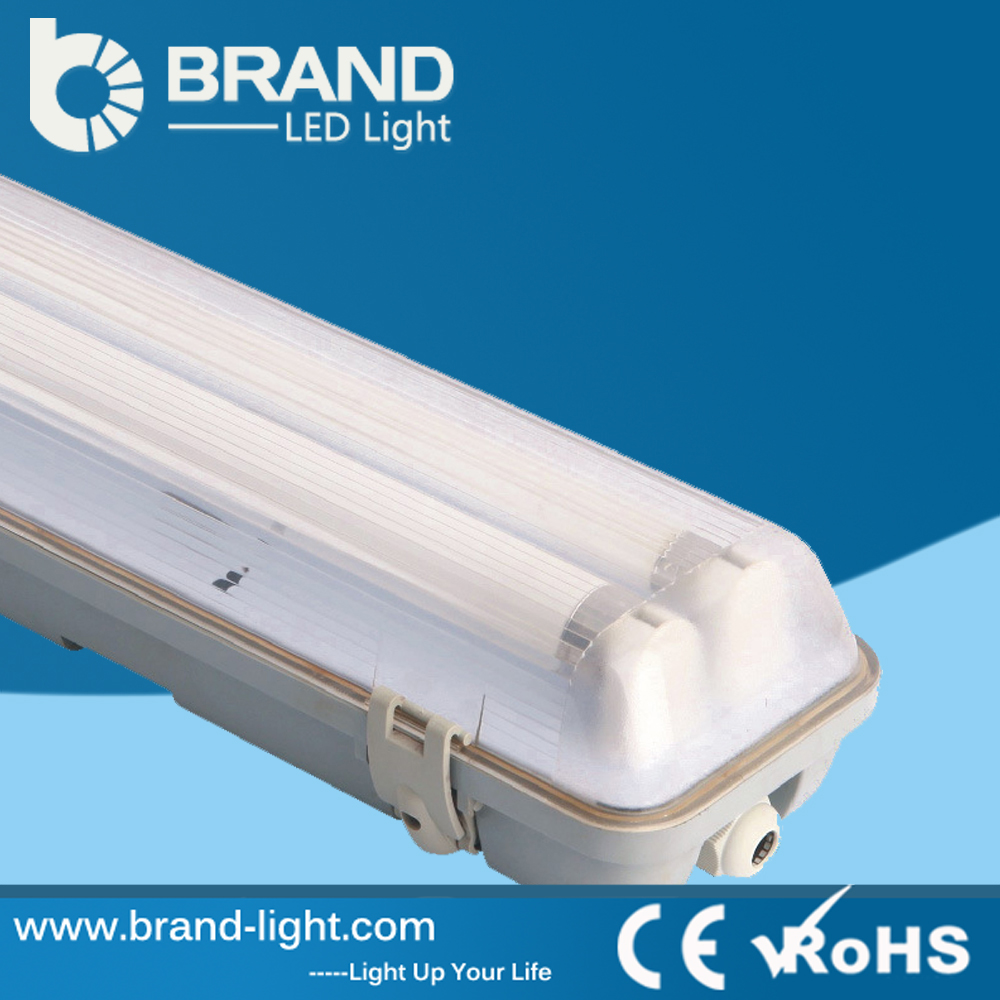 high quality new design best price cool white tube waterproof fluorescent/led light fixture oem