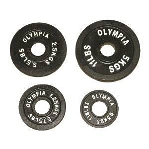Ader Olympic Black Plates Set- (0.5 Kg, 1.25 Kg, 2.5kg, 5 Kg) 4 Pairs
