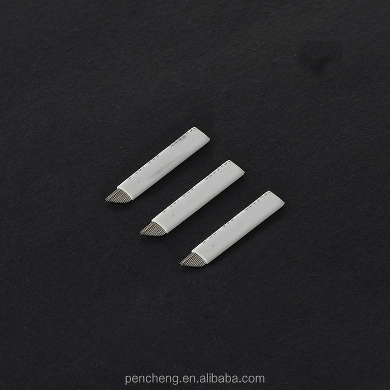 wholesale permanent makeup blade & tattoo arc needle 14pin/pc supply
