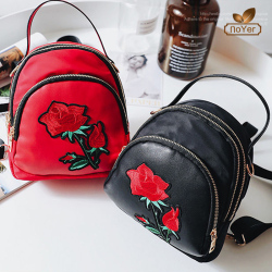 China wholesale girls mini embroidered backpack purse fashion nylon women backpack