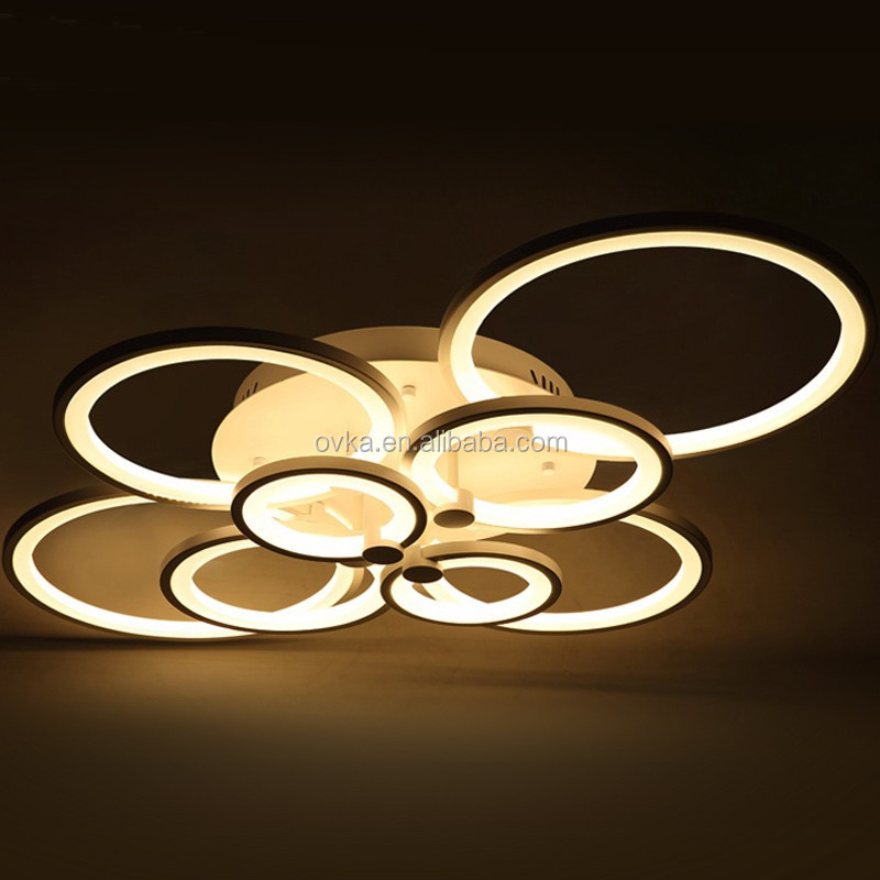 <strong>modern</strong> dimmable by remote control led acrylic ceiling lights for drawing room