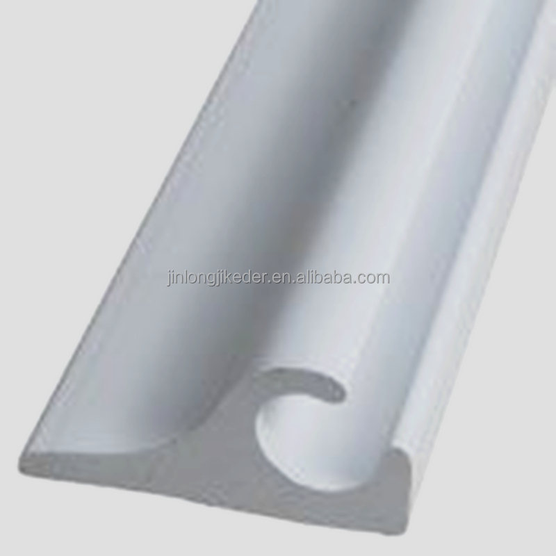 upvc straight awning pvc rail for keder extrusion profile