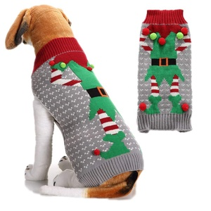Ugly Dog Christmas Sweaters.Ugly Dog Sweaters For Christmas Pet Cat Clothes Xmas Elf Design Holiday Festive Puppy Jumpers Apparel