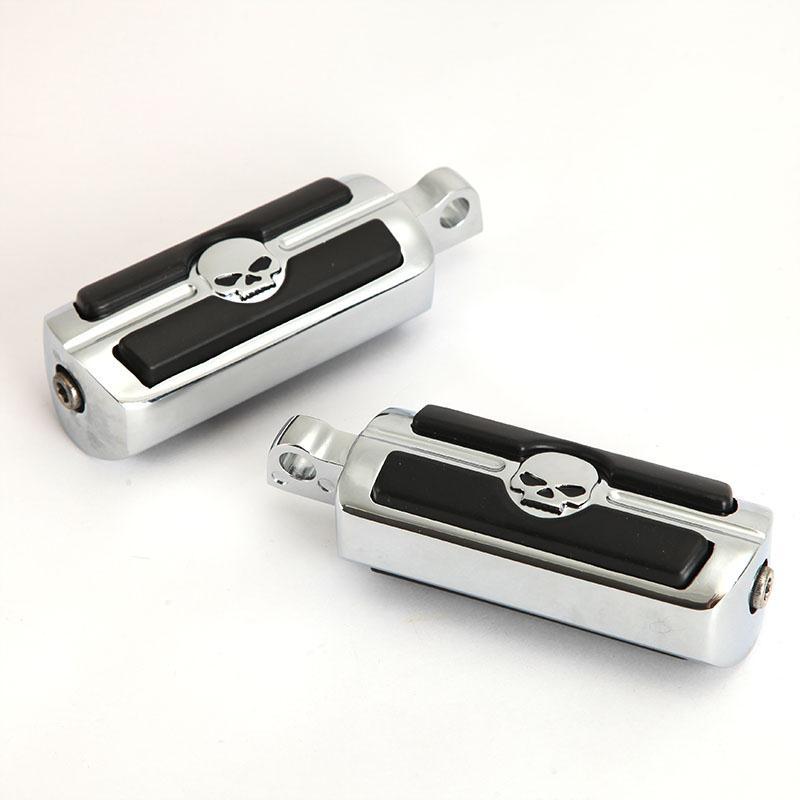 Пара хром черный мотоцикл педаль тормоза площадкой крышка алюминий заготовки мини - резины для Harley