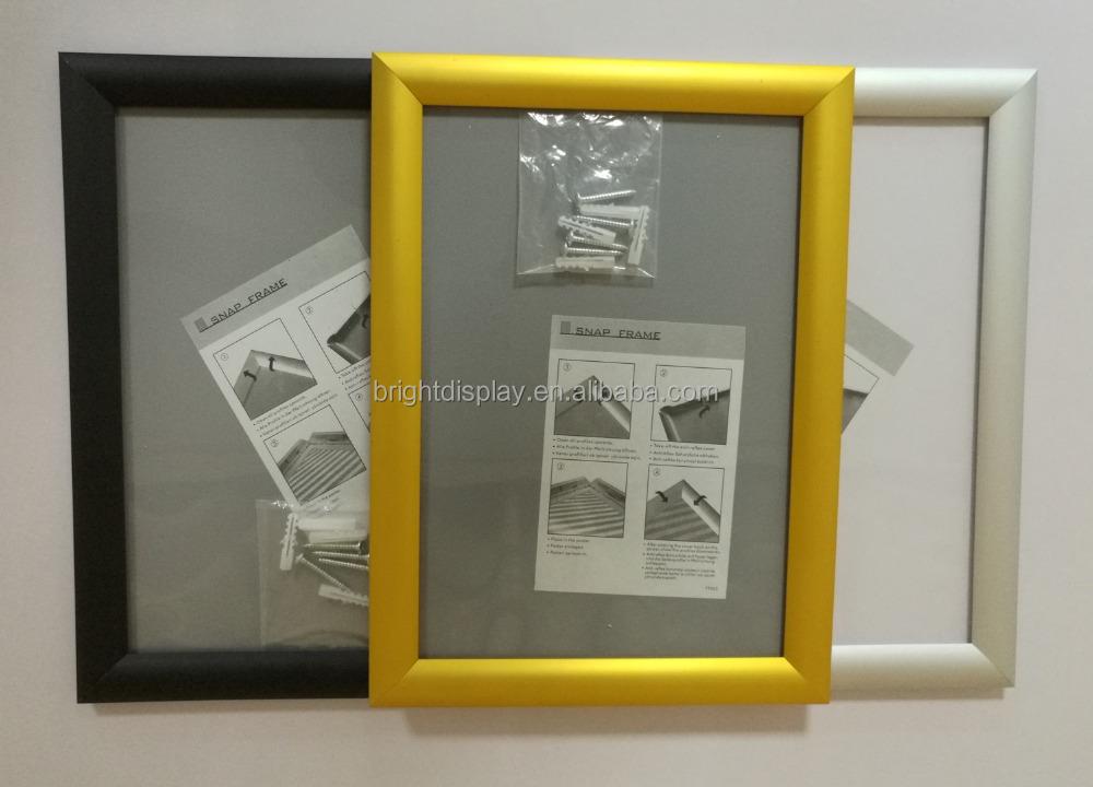 A4 marco rápido aluminio plata/Negro/oro color gráfico marcos 25mm ...