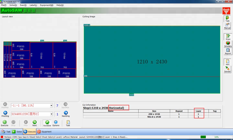 NP280HG zware hout snijden CNC panel zag machine