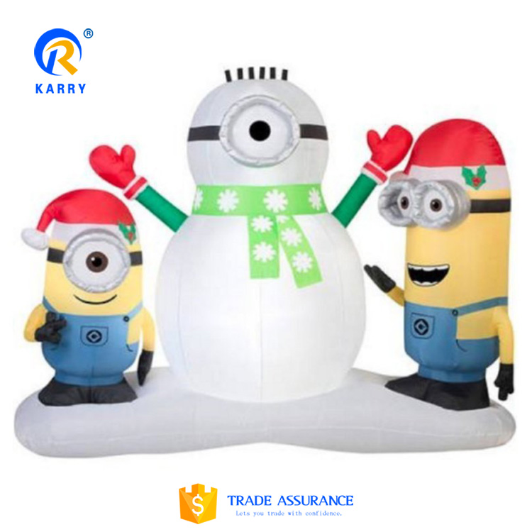 Christmas decorating inflatable Minions advertising Santa Claus,outdoor advertising inflatable bounce house