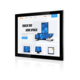 17 Inch 1080p HDM1 Flush Mount Capacitive Touch Screen Open Frame LCD Monitor